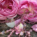 """Mala """"Joy of Life"""" aus Cherryquarz mit Lotusblume des Lebens"""